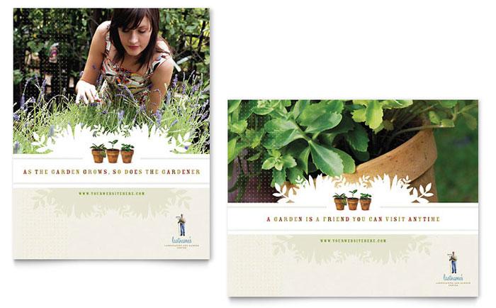 Landscape & Garden Store Poster Template Word & Publisher
