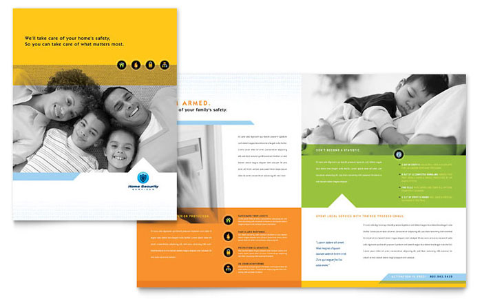 Home Security Systems Brochure Template Word & Publisher