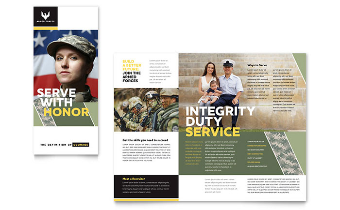 Military Brochure Template Word & Publisher