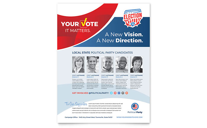 Election Flyer Template Word & Publisher