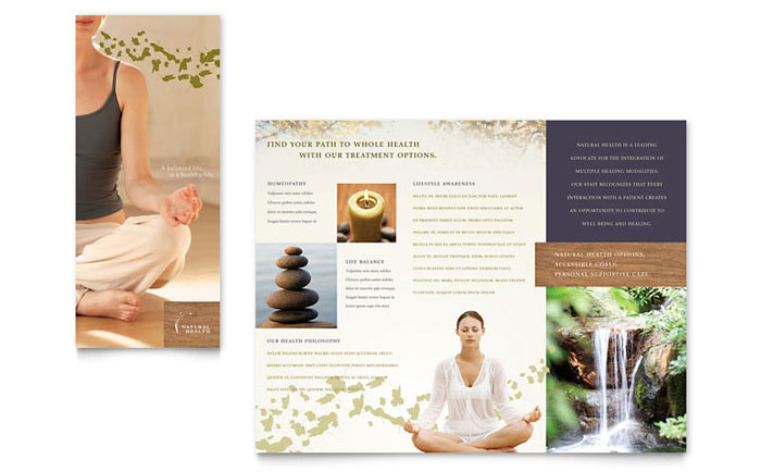 Naturopathic Medicine Brochure Template  Word  Publisher