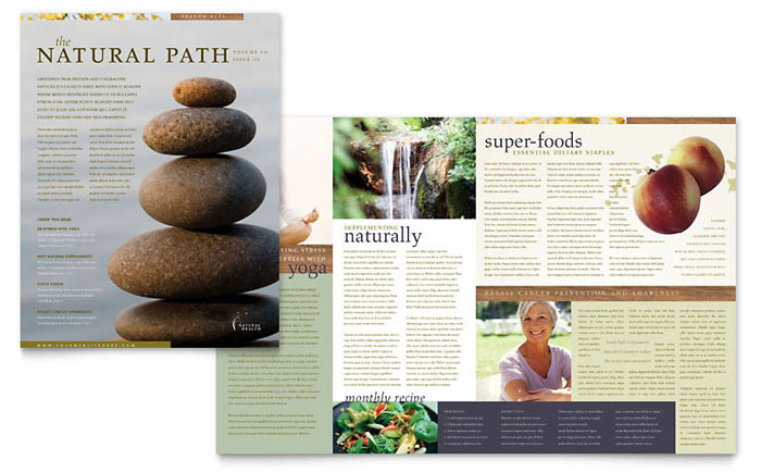Naturopathic Medicine Newsletter Template Word & Publisher