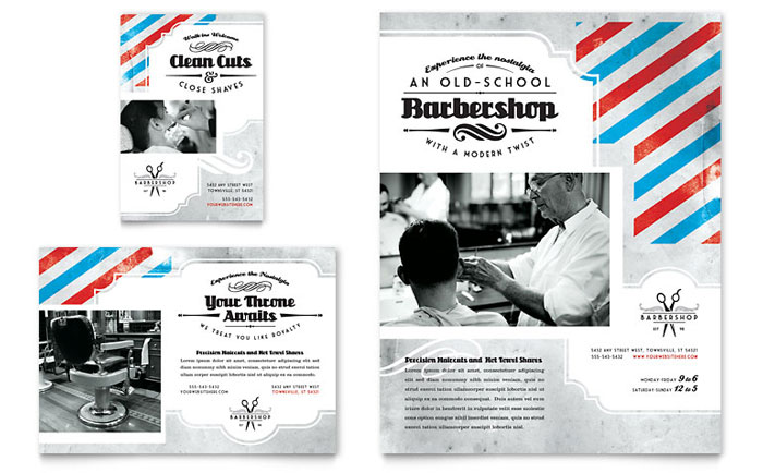 Barbershop Flyer & Ad Template Word & Publisher