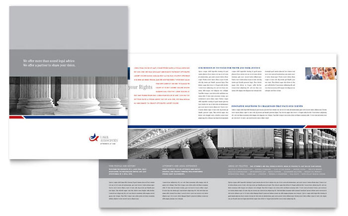 Legal Amp Government Services Brochure Template Word Amp Publisher