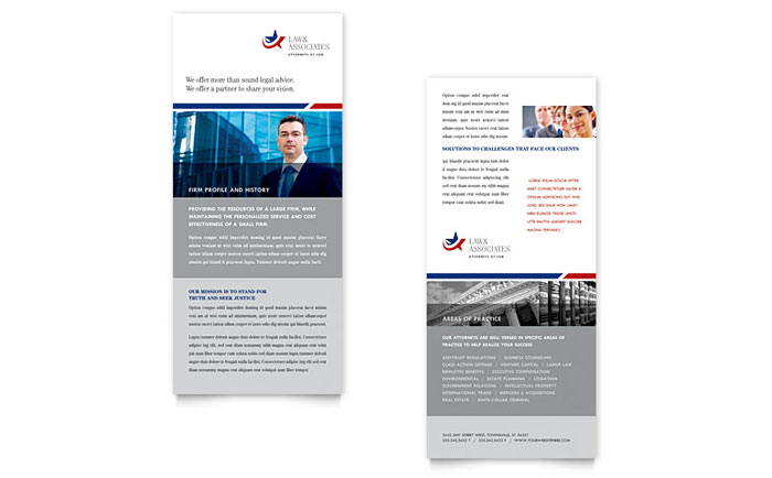 Legal Government Services Rack Card Template Word Publisher