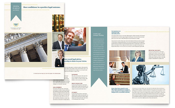 Law Firm Brochure Template Word & Publisher