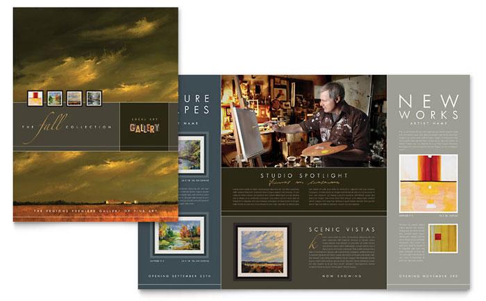 Art Gallery  Artist Brochure Template  Word  Publisher
