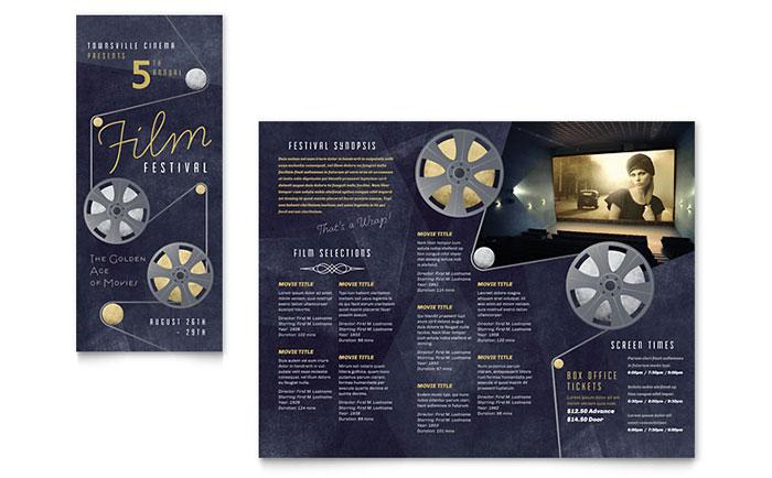 Film Festival Brochure Template Word & Publisher