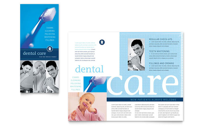 Dentist Office Brochure Template Word & Publisher
