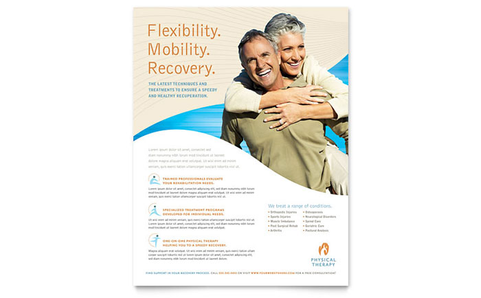 Physical Therapist Flyer Template Word & Publisher