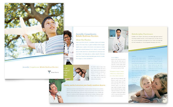 Family Physician Brochure Template Word & Publisher