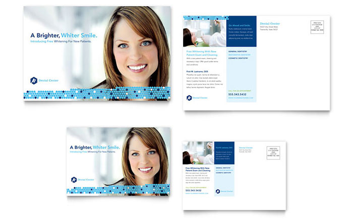 Dentistry & Dental Office Postcard Template Word & Publisher