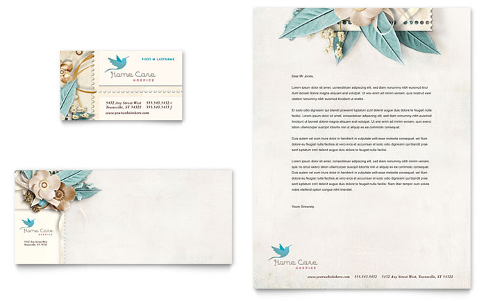Hospice & Home Care Business Card & Letterhead Template