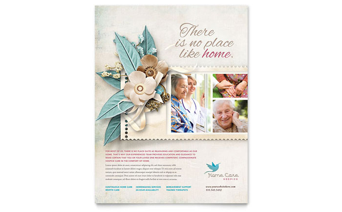 Hospice  Home Care Flyer Template  Word  Publisher
