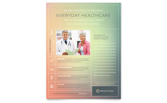 Medical Clinic Flyer Template Word & Publisher
