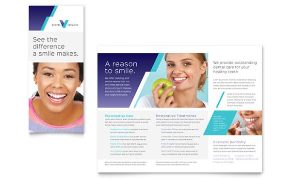 Dentist Brochure Template Word Publisher