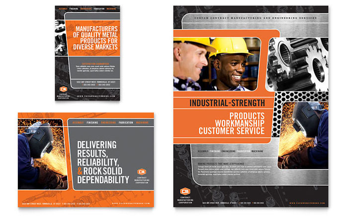 Manufacturing Engineering Flyer & Ad Template Word