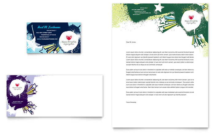 Child Advocates Business Card Amp Letterhead Template Word