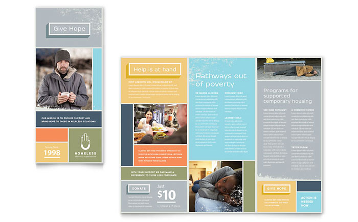Homeless Shelter Brochure Template Word & Publisher