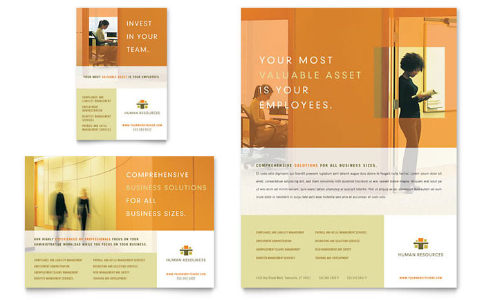 HR Consulting Flyer & Ad Template Word & Publisher
