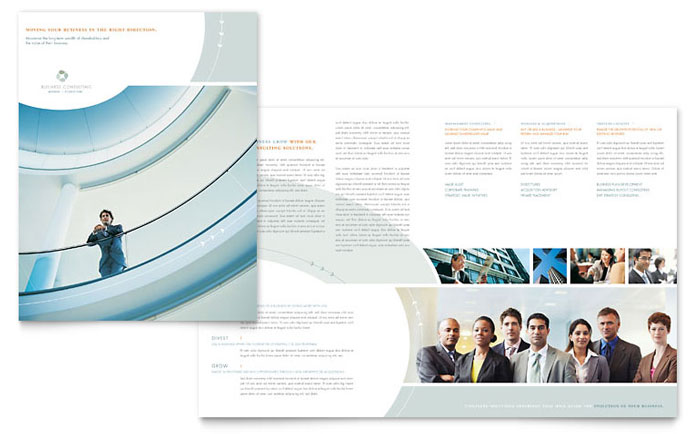 Business Consulting Brochure Template Word & Publisher