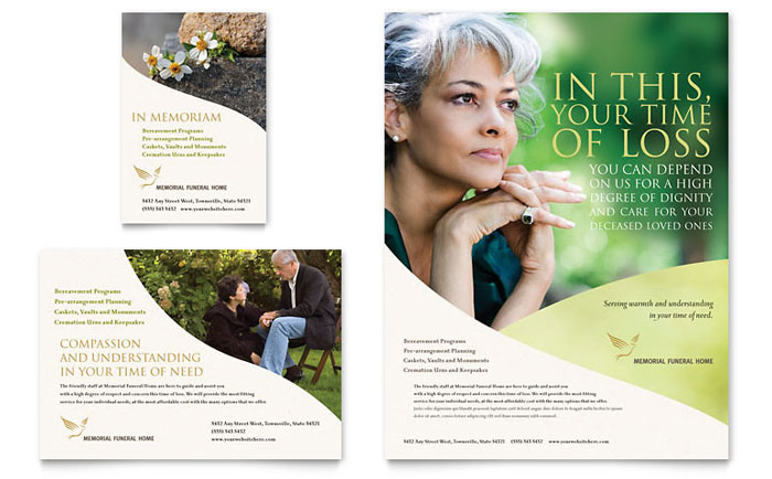 Memorial & Funeral Program Flyer & Ad Template Word