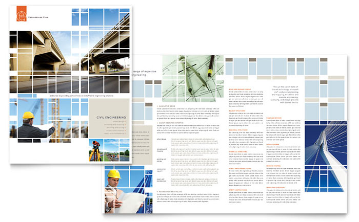 Civil Engineers Brochure Template Word & Publisher
