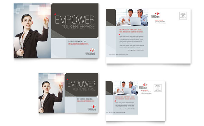 Corporate Business Postcard Template Word & Publisher