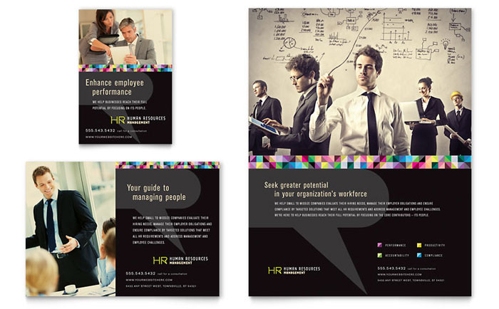 Human Resource Management Flyer & Ad Template Word
