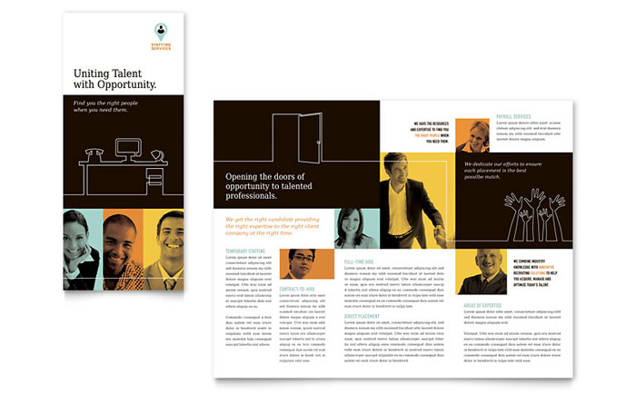 Recruiter Tri Fold Brochure Template Word Amp Publisher