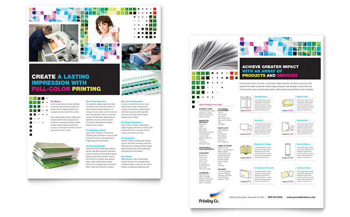Printing Company Brochure Template - Word & Publisher