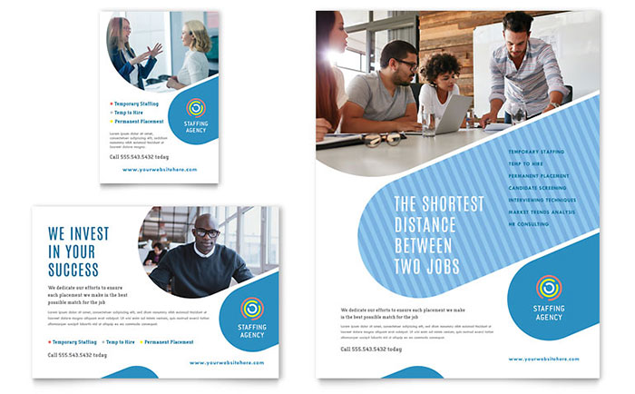 Employment Agency Flyer & Ad Template Word & Publisher