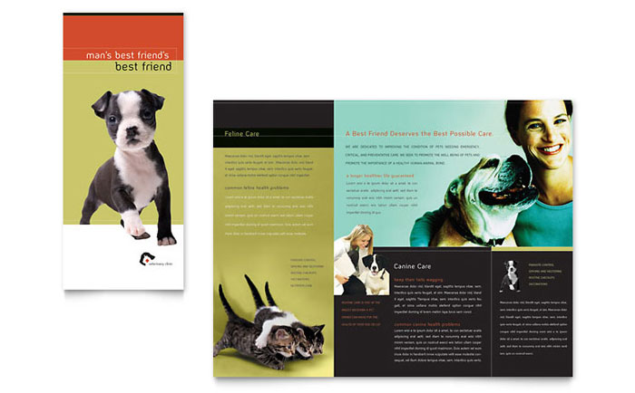 Veterinary Clinic Brochure Template Word & Publisher