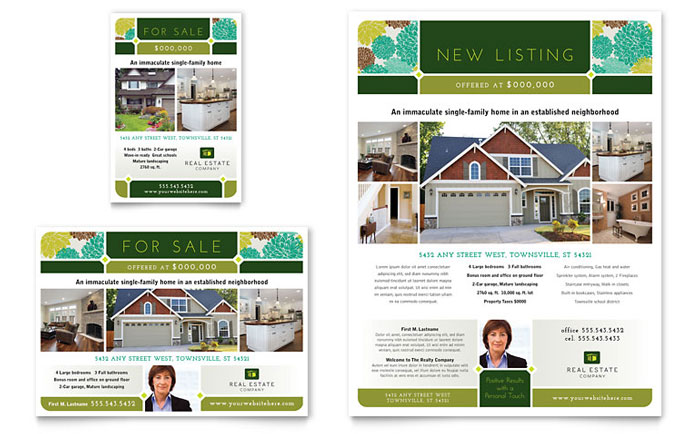 Real Estate Flyer & Ad Template Word & Publisher