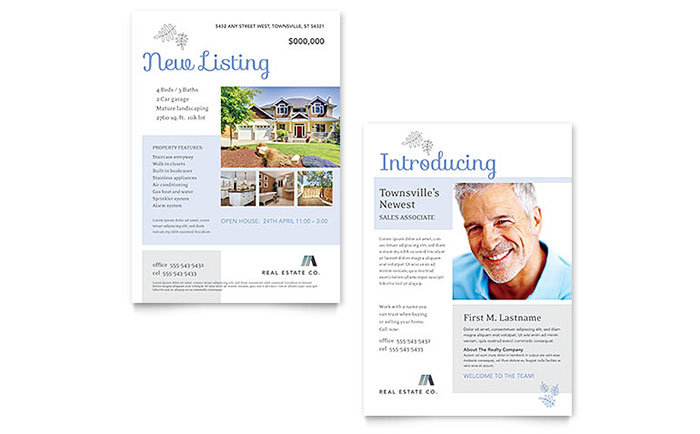 Real Estate Listing Announcement Template Word & Publisher