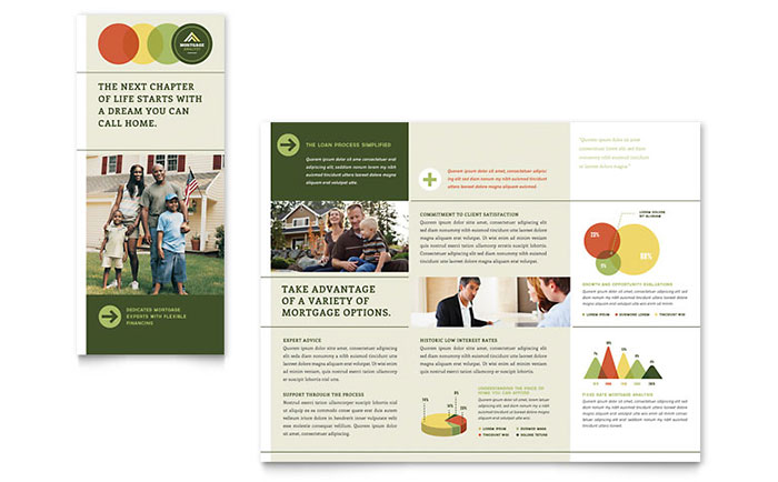 Mortgage Broker Tri Fold Brochure Template Word & Publisher