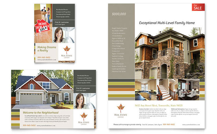 Property Brochure Template Free Ideal Vistalist Co