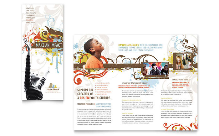 Church Youth Group Brochure Template Word & Publisher