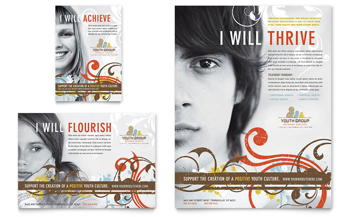 Church Youth Group Flyer & Ad Template Word & Publisher