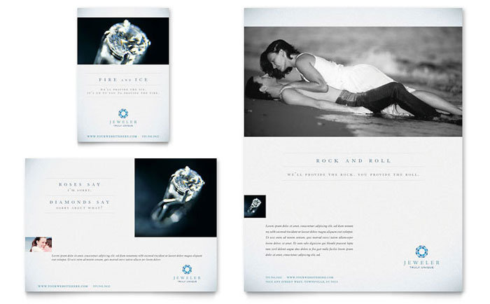 Jeweler  Jewelry Store Flyer  Ad Template  Word  Publisher