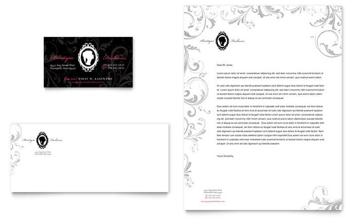 Formal Fashions & Jewelry Boutique Business Card