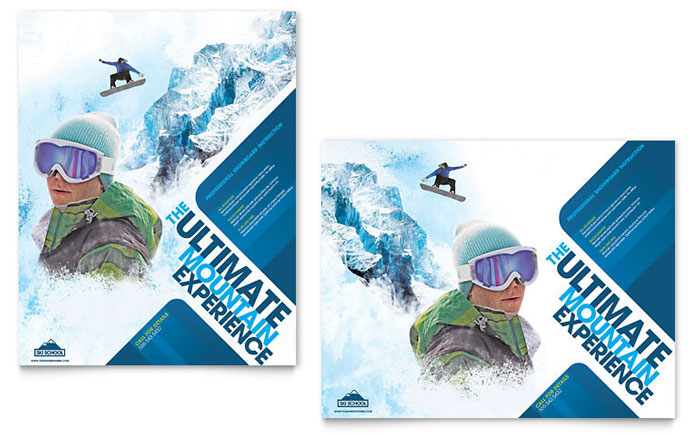 golf cart insurance warm front diagram ski & snowboard instructor poster template - word publisher