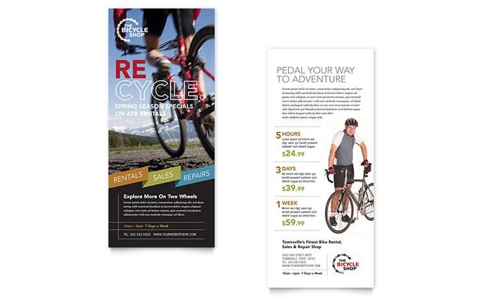 Bike Rentals Amp Mountain Biking Rack Card Template Word Amp Publisher