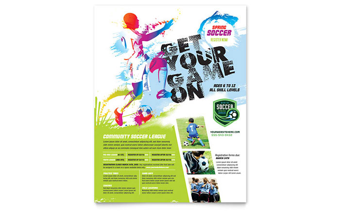 Youth Soccer Flyer Template Word & Publisher