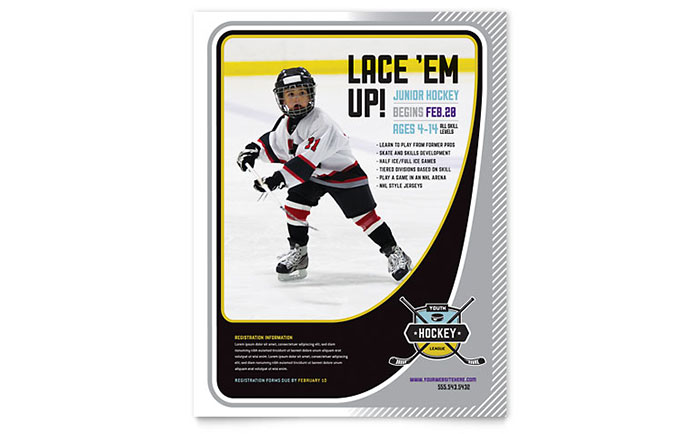 Junior Hockey Camp Flyer Template Word & Publisher