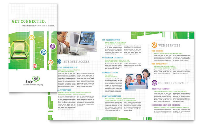 ISP Internet Service Brochure Template Word & Publisher