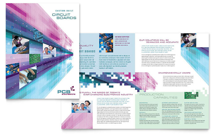 High Tech Manufacturing Brochure Template Word & Publisher