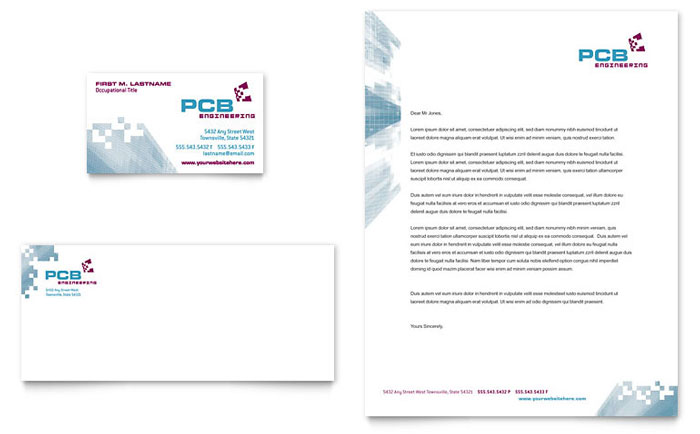 High Tech Manufacturing Business Card & Letterhead