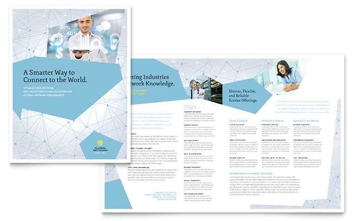 Global Network Services Brochure Template Word & Publisher