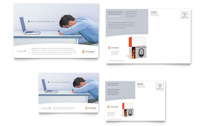 publisher postcard templates